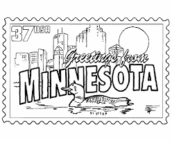 Small Picture USA Printables Minnesota State Stamp US States Coloring Pages
