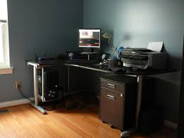 home office black desk. Black L Shaped Desks Color Home Office Desk W