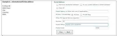 international mailing address format new postal address structure