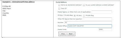 international mailing address format new postal address structure