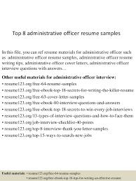 Administration Officer Sample Resume Best Sample Resume For Administrative Officer Kenicandlecomfortzone