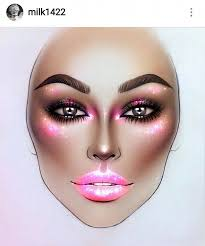 i love face charts they are inspirational and even though it s a totally diffe story to do makeup on a real face you can draw inspiration from them