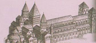 Католическая церковь в веках История Средних веков  Собор аббатства Клюни Реконструкция