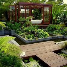 Small Picture Small Terrace Garden Design Ideas White Pebble And Downlight Lamp
