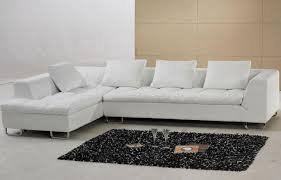 Small Picture Interesting Modern White Leather Sofa W Adjustable Backrest In