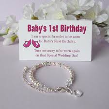 baby s 1st birthday gift bracelet baby to bride growing with baby