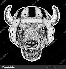 игрок в регби буффало бизон бык бык рука изображения для тату