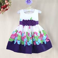 Baby Girl Dress Patterns Gorgeous High Quality Butterfly Print Girl Dresses With Flower Bow European