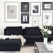 Wandstreichen Möglich, Aber Am Besten Mit Hellen Bildern über Dem Sofa  Dekorieren Wegen Kontrast. Black Couch DecorBlack ...