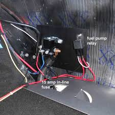wiring electric fuel pump to ignition wiring image electric fuel pump how i did it vintage mustang forums on wiring electric fuel pump to
