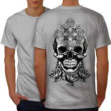 T Shirt Design For Burial Wellcoda Evil Satan Head Skull Mens T Shirt Burial Design