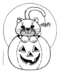 Halloween Coloring Pages Spider Sheets To Print