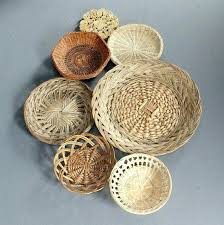 wicker wall baskets 7 woven wall baskets wicker basket wall art by wicker wall hanging baskets