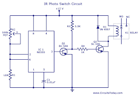 photo switch circuit circuit diagram and parts list