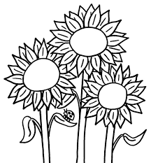 Small Picture Best Sunflower Coloring Pages Kids Images Coloring Page Design