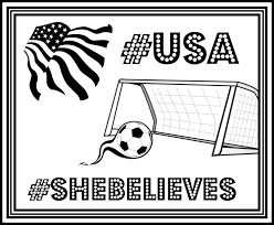 Small Picture FREE USA Womens Soccer Printable Coloring Page SheBelieves