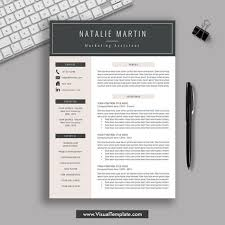 Modern Digital Resume Design 2019 2020 Pre Formatted Resume Template With Resume Icons