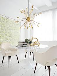 mid century lighting. dining room tulip table brass chandelier modern lighting midcentury style mid century