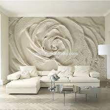 3d Wallpaper For Walls White Flower ...