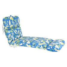 Outdoor Chaise Lounge Cushion Blue Green Floral Tar
