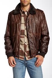 image of nautica faux fur trim vegan leather er jacket