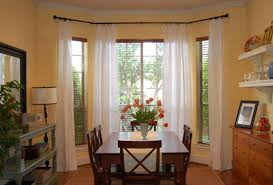Inspirating Of Perfect Kitchen Curtains For Bay Windows Decorating With  Kitchen Photo