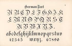 Calligraphy Fonts German Style Calligraphy Fonts From Draughtsman 39 S Alph Flickr
