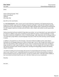 Cover Letter For Teacher Resume Res Divefellows Com