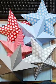 best ideas about paper stars origami stars diy 3d stars to make from regular scrapbook paper so cute for christmas or fourth of