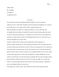 personal narrative essay personal narrative essay heims 1 dakota heims mrs sandberg cp english 12 16