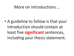 hamlet writing the introduction and conclusion writing an a guideline to follow is that your introduction should contain at least five significant sentences including your thesis statement