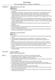Territory Sales Manager Resume Samples | Velvet Jobs