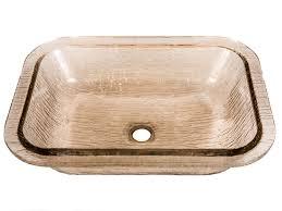 glass undermount bathroom sinks. jsg oceana bathroom sinks - 007-407-120 oasis rectangle glass undermount sink fawn