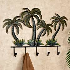 Palm Tree Decor For Bedroom Palm Tree Tropical Metal Wall Hook Rack Trees Tree Bedroom And