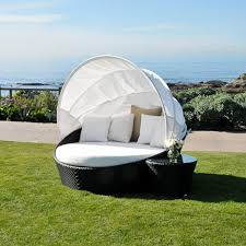 patio daybed with canopy. Fine With Caluco Dijon Round Daybed With Canopy On Patio With