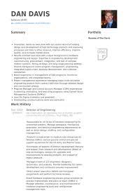Director Of Engineering Resume samples