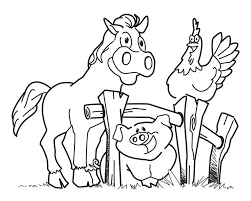 Small Picture Coloring Book Farm Animals Free Coloring Pages