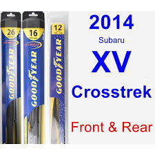 2014 Subaru Xv Crosstrek Wiper Blade Set Kit Front Rear 3 Blades Rear