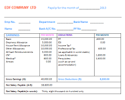 Salary Slip Word Format 27 Sample Salary Slip Format In Word Templates Components Of