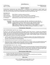 Analyst Resume Sample