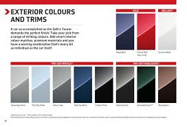 Vauxhall Colour Chart Page 53 Of Vauxhall Zafira Tourer 2015