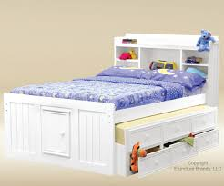 Trundle with Storage | Trundle Bed with Storage | Twin Captain Bed with  Trundle and Storage