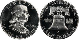 1960 Half Dollar Value Chart 1960 50c Proof Franklin Half Dollar Pcgs Coinfacts