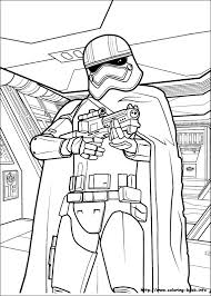 Small Picture Star Wars The Force awakens coloring picture LineArt Star