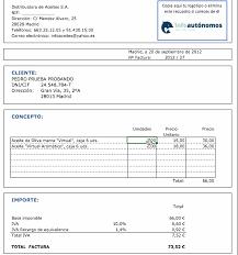 formato para facturas en excel