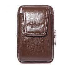 men genuine leather belt loop phone pouch holster retro cell phone case waist bag cod