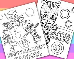 Small Picture 2 Personalized Coloring Pages PJ Masks Animation TV by KimZillu