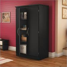 South Shore Morgan 2 Door Storage Cabinet in Pure Black 7270970