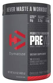 dymatize pre workout supplement 400g chilled fruit fusion