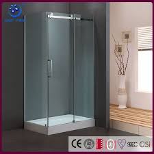 bathroom completely frameless sliding glass shower door fits 36x48 inch opening 3 8